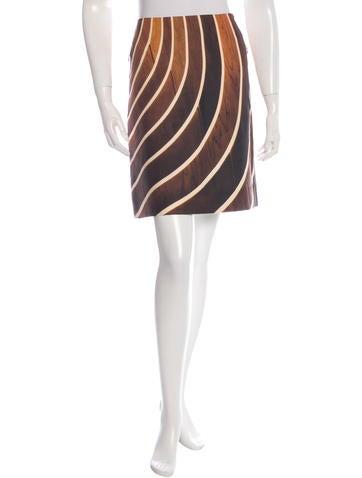 Akris Striped Mini Skirt