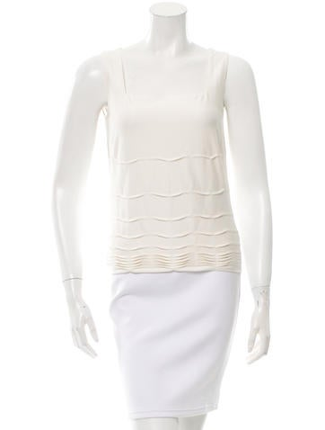 Akris Pleat-Accented Sleeveless Top w/ Tags None