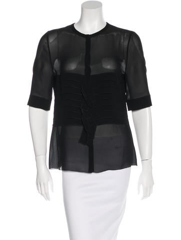 Akris Tiered Button-Up Top None