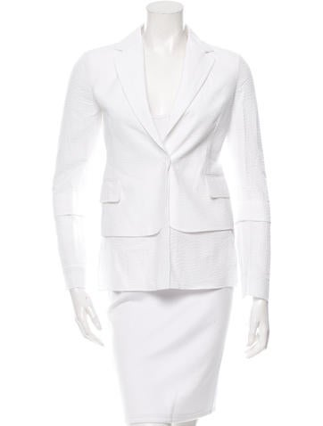 Akris Textured Notch-Lapel Blazer w/ Tags