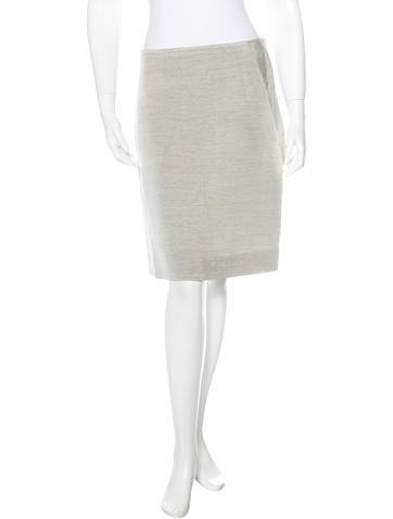 Akris Wool-Blend A-Line Skirt None