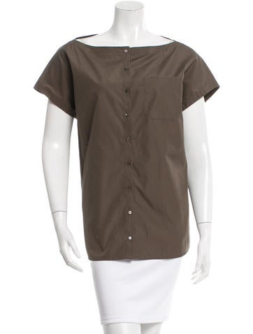 Akris Sleeveless Button-Up Top None