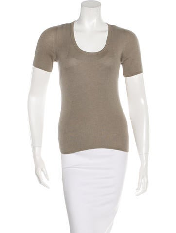 Akris Cashmere & Silk-Blend Rib Knit Top None
