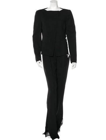 Akris Wool Wide-Leg Pantsuit None
