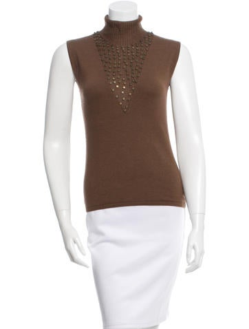 Akris Cashmere Embellished Top None