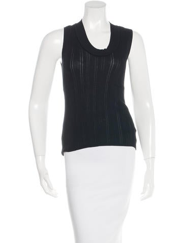 Akris Rib Knit Sleeveless Top None