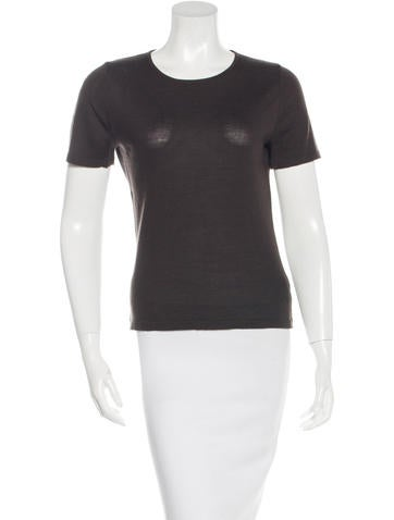 Akris Wool & Cashmere-Blend Top None
