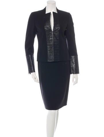 Akris Wool Skirt Suit w/ Tags