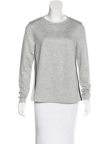 Akris Mesh-Trimmed Long Sleeve Top None