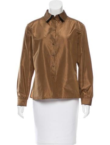 Akris Silk Button-Up Top None