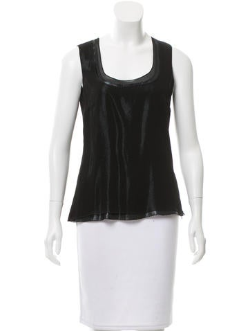 Akris Metallic Silk Top None