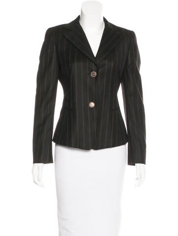 Akris Wool Striped Blazer