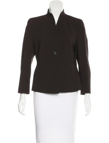 Akris Wool Collarless Blazer