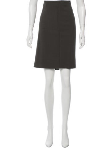 Akris Woven Knee-Length Skirt