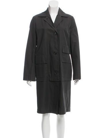 Akris Long Button-Up Coat