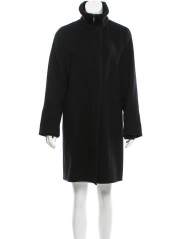 Akris Wool-Blend Knee-Length Coat None