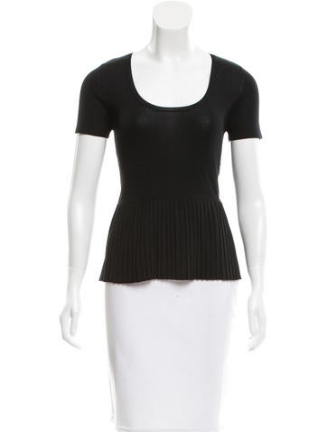 Akris Pleated Short Sleeve Top w/ Tags None