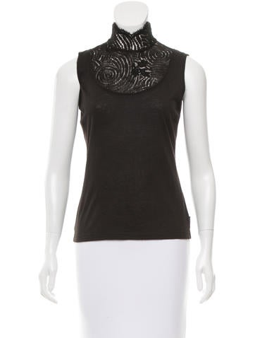 Akris Cashmere Sleeveless Top None