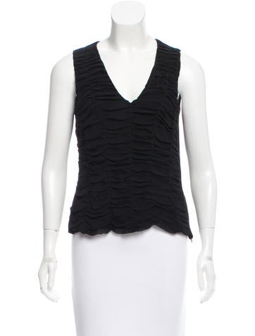 Akris Ruched Silk Top None