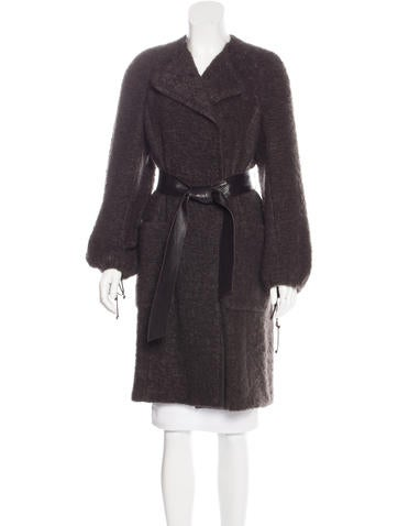 Akris Mohair & Wool-Blend Coat None