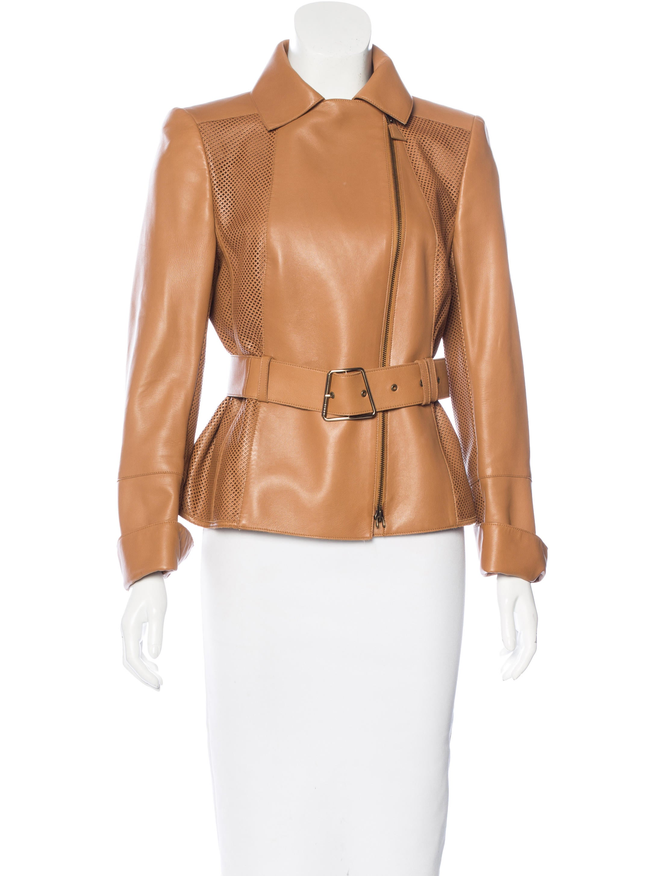 Akris Leather Laser Cut Jacket Clothing Akr29927 The