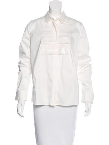 Akris Paneled Button-Up Top None