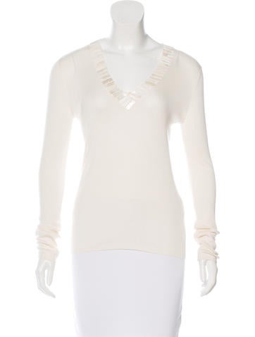 Akris Silk Embellished Top None
