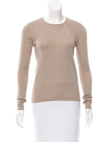 Akris Cashmere & Silk-Blend Long Sleeve Sweater None
