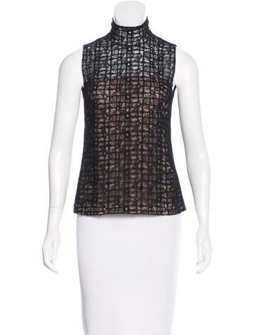 Akris Sleeveless Lace Top None