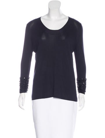 Akris Embellished Long Sleeve Top w/ Tags None