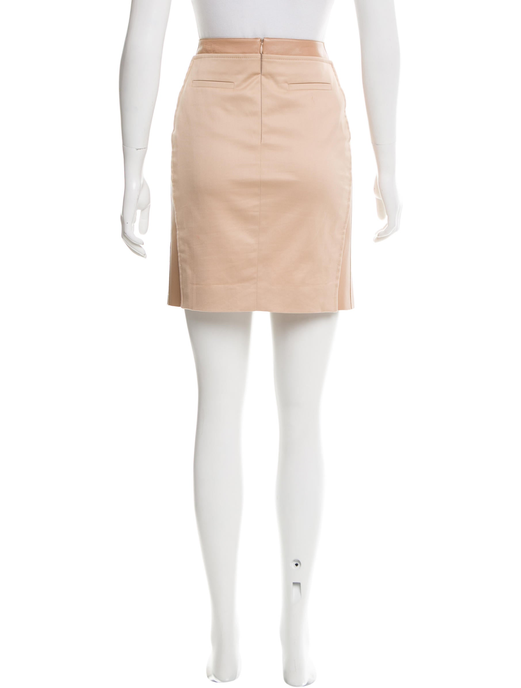 akris leather trimmed mini skirt clothing akr30845