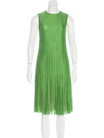 Akris Knit Pleated Dress