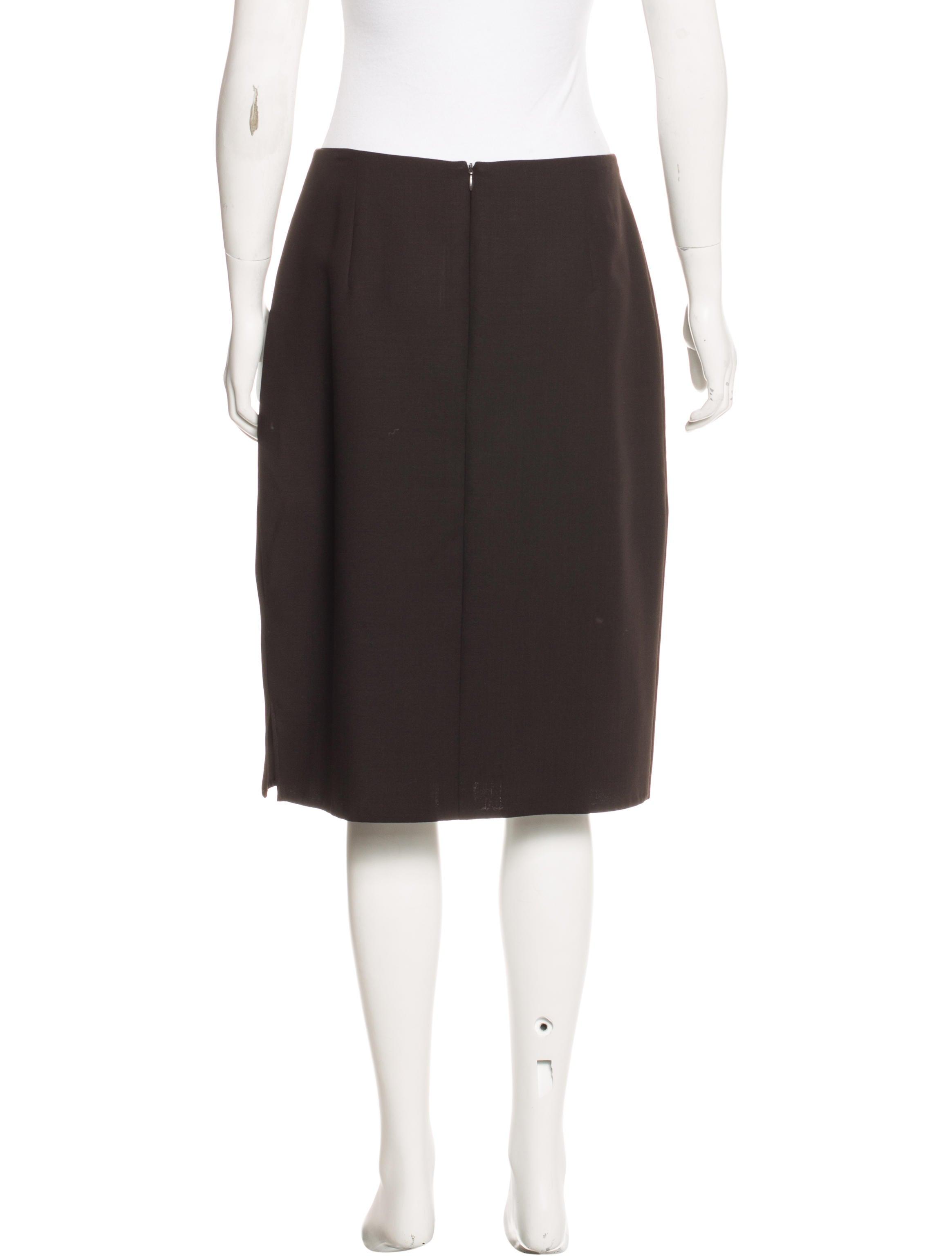 Akris Knee-Length Pencil Skirt - Clothing