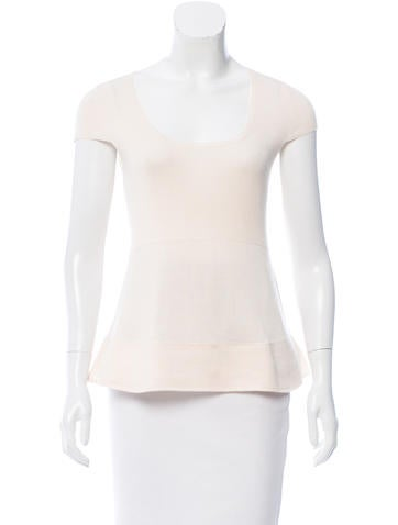 Akris Silk Short Sleeve Top None