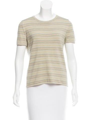 Akris Striped Cashmere Top None