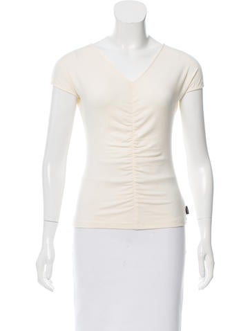 Akris Sleeveless Ruched Top None