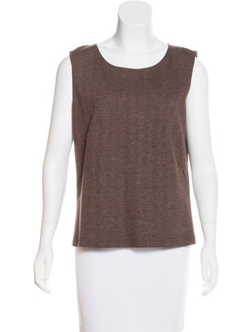 Akris Herringbone Sleeveless Top w/ Tags None