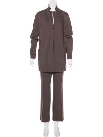 Akris Herringbone Reversible Pantsuit w/ Tags None