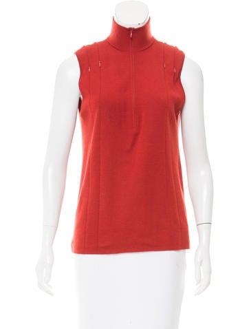 Akris Cashmere Sleeveless Sweater None