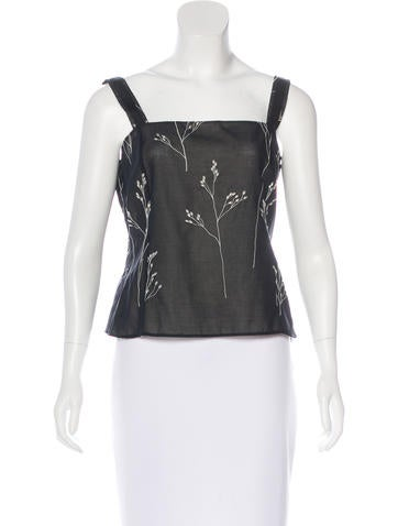 Akris Sleeveless Embroidered Top w/ Tags None