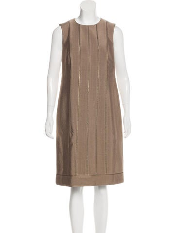 Akris Wool-Blend Sheath Dress None