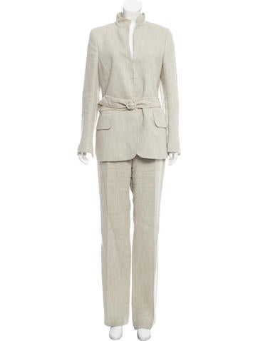 Akris High-Rise Wide-Leg Pantsuit None