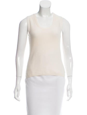 Akris Sleeveless Cashmere Top None