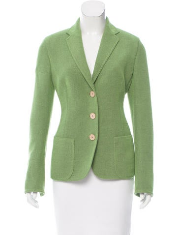 Akris Wool-Blend Notch-Lapel Blazer None