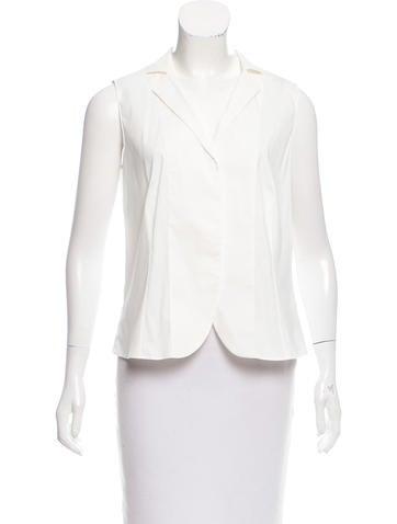Akris Notch-Collar Button-Up Top None
