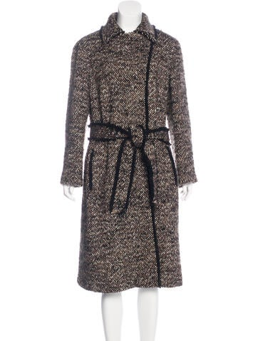 Akris Wool-Blend Tweed Coat None