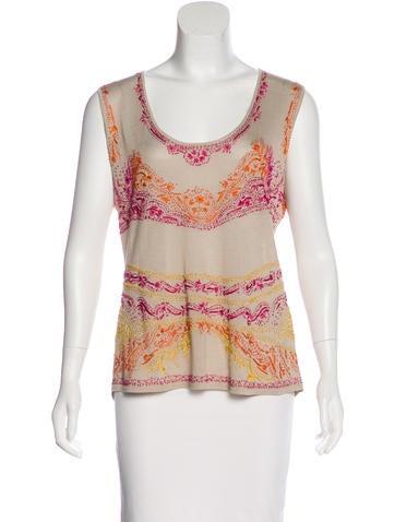 Akris Embroidered Silk Top None