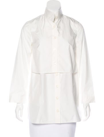 Akris Layered Button-Up Top None