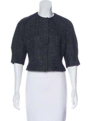 Akris Wool-Blend Textured Jacket None