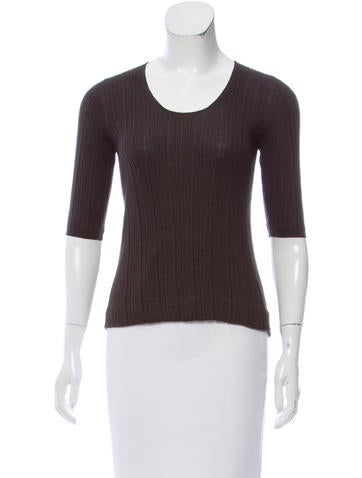 Akris Knit Three-Quarter Sleeve Top None